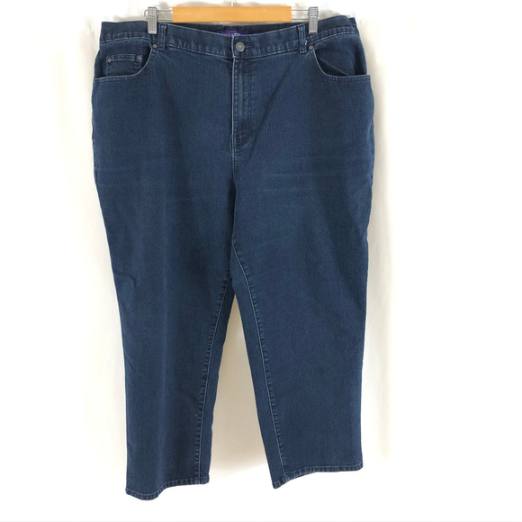Catherines Denim - Right Fit Catherines Womens Jeans Capri Crop 20WP